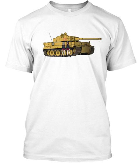Tiger Vor!! White T-Shirt Front