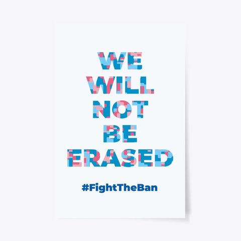 We Will Not Be Erased  Standard T-Shirt Front