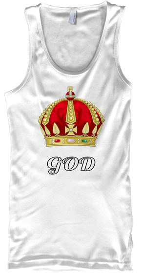 God White Tank Top Front