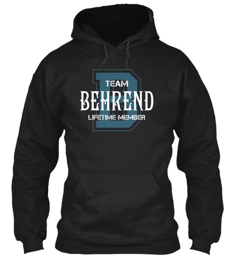 Team Behrend   Name Shirts Black T-Shirt Front