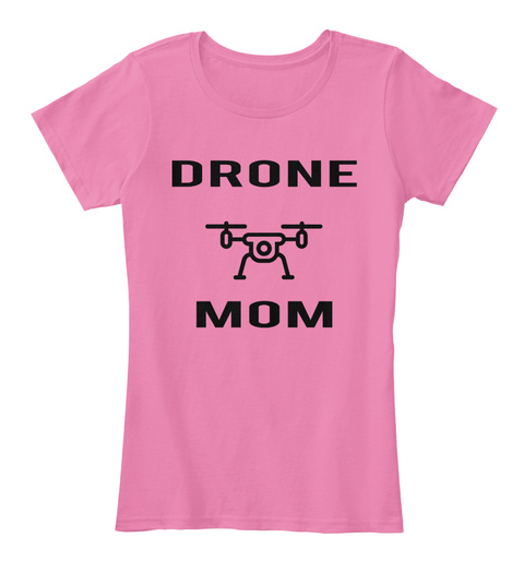 Drone    Mom True Pink Women's T-Shirt Front
