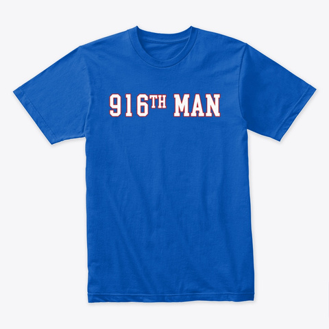 916th Man Shirt Retro Royal T-Shirt Front