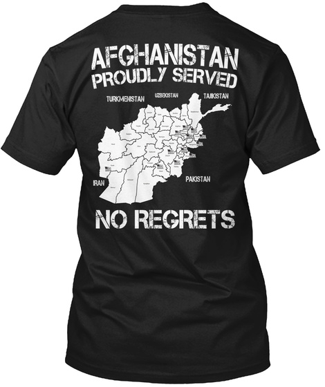 Afghanistan Veteran   Limited Edition Black T-Shirt Back