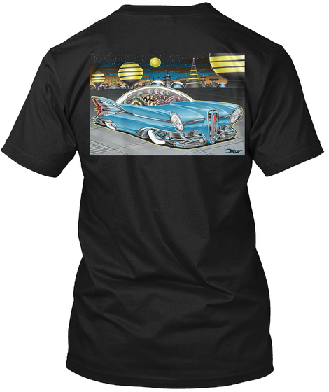 Emmett Cruise Night 2019 T Shirts Black T-Shirt Back