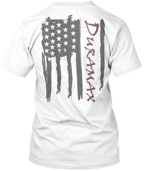 Duramax White T-Shirt Back