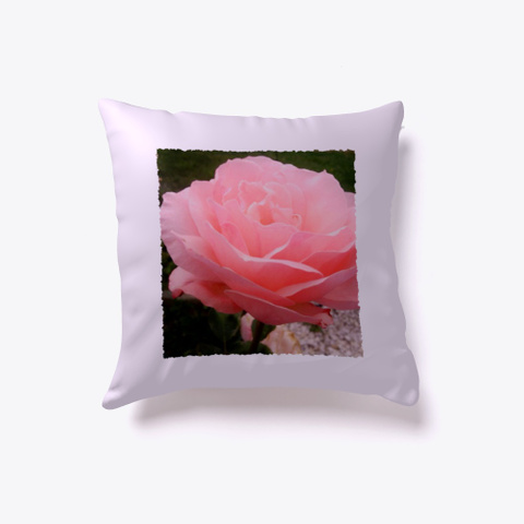 Soft Pink Rose Petals Light Purple Kaos Front
