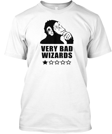 Very Bad Wizards Stuff (Black Star) White T-Shirt Front