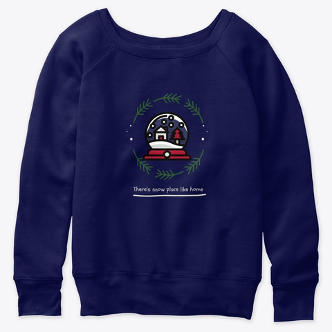 Snow Place Like Home Navy  T-Shirt Front