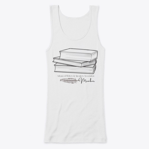 Awsa Member: Classic Books Apparel  White T-Shirt Front