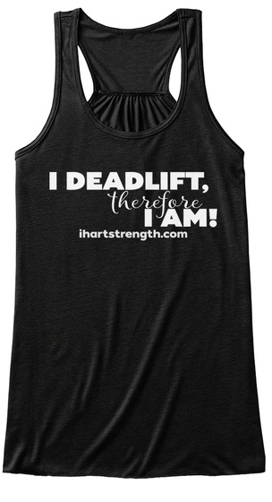 Deadlift, Therefore   White Black Women's Tank Top Front