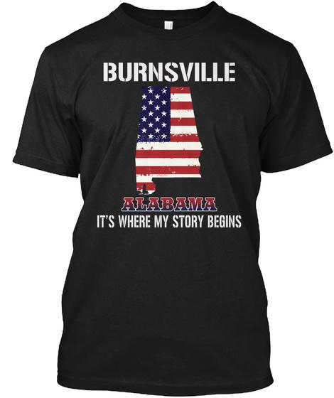 Burnsville Al   Story Begins Black T-Shirt Front