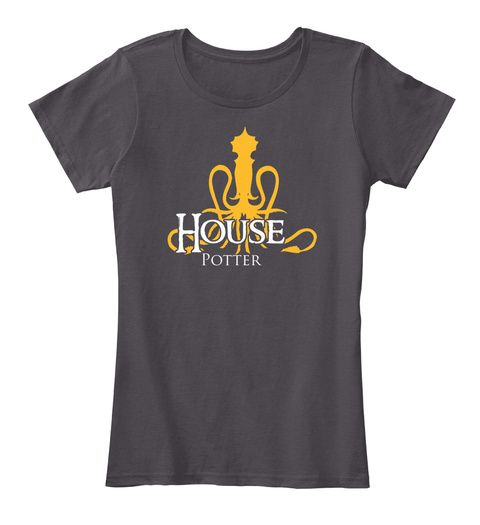 House Potter Heathered Charcoal  T-Shirt Front