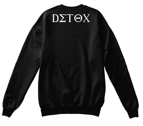 Detox Black T-Shirt Back
