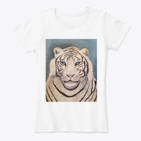 White Tiger | Art Of Jameela White T-Shirt Front