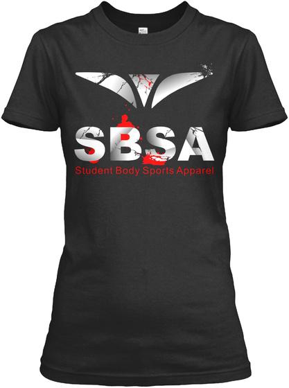 Student Body Sports Apparel (Sbsa) Tee Black T-Shirt Front