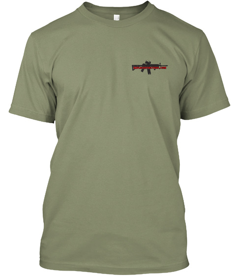 Rifle Connection.Com Tee Light Olive T-Shirt Front
