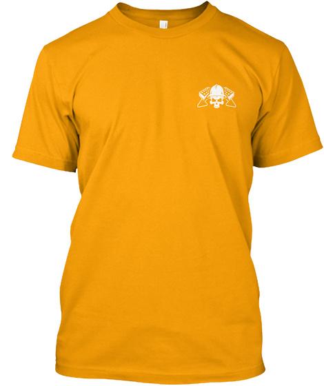 Bricklayer Shirt   Bricklayer Works Hard Gold T-Shirt Front