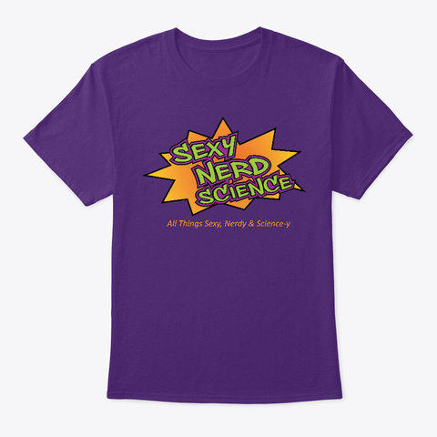 Sexy Nerd Science Products Purple T-Shirt Front