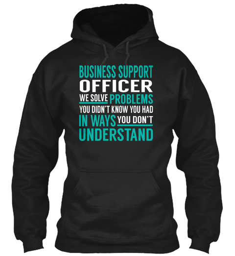 Business Support Officer Black T-Shirt Front