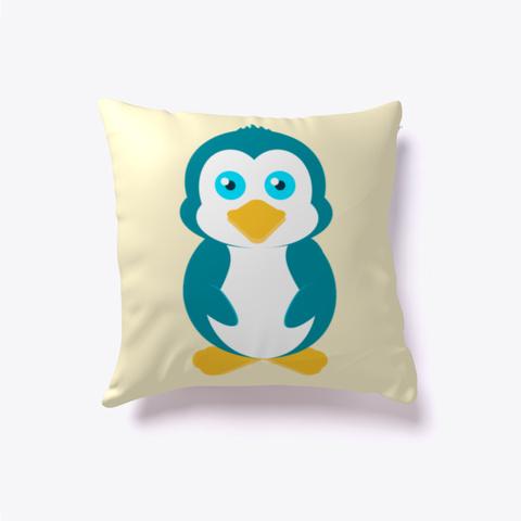 Petey Penguin Pillow Light Yellow T-Shirt Front