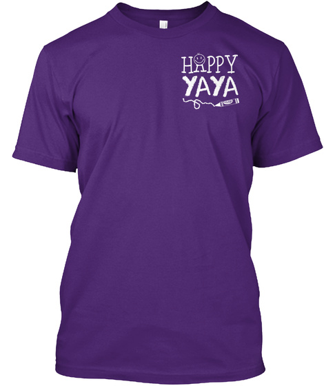 Happy Yaya Purple T-Shirt Front