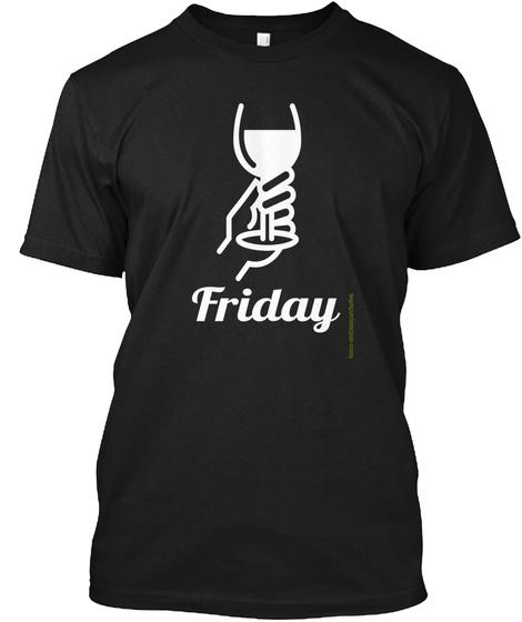 Friday Black T-Shirt Front