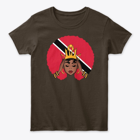 Trinidad And Tobago Queen Dark Chocolate T-Shirt Front