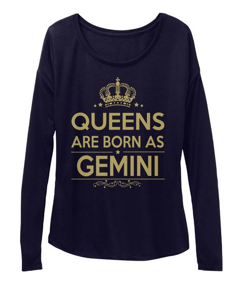 Birth Gift Born Mom Queen Gemini Lady Midnight T-Shirt Front