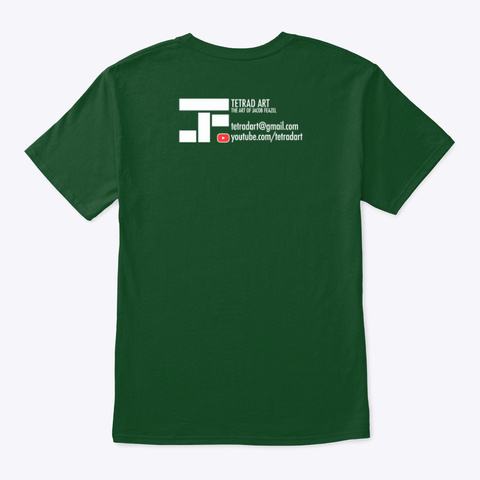 St Patricks Day Tetrad Art Logo Deep Forest T-Shirt Back