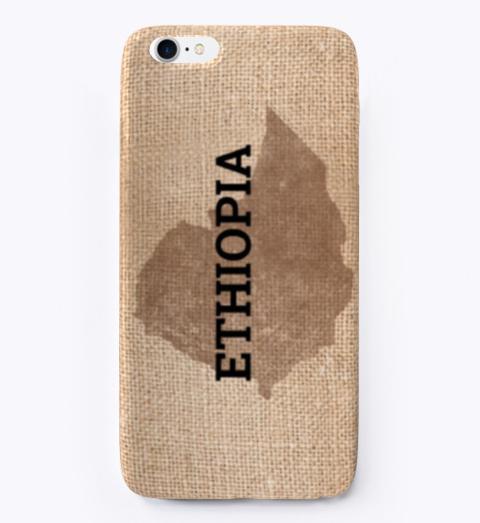 Ethiopian Map Printed Phone Case