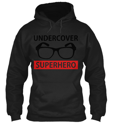Undercover Superhero Black Sweatshirt Front