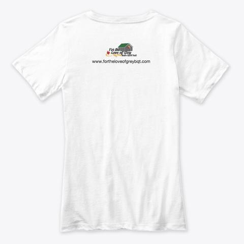 #Barnquiltaddict White T-Shirt Back