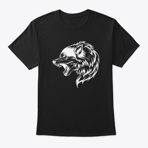 Wolf T Shirt Black T-Shirt Front