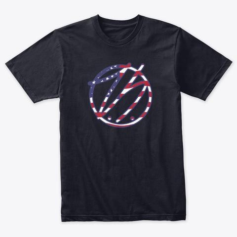 T.S. Flag Logo Vintage Navy T-Shirt Front