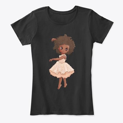 African American Daughter   Black Angel Black T-Shirt Front