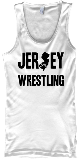 Jers Ey Wrestling White Tank Top Front