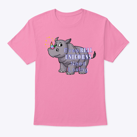 Real Unicorns Pink T-Shirt Front