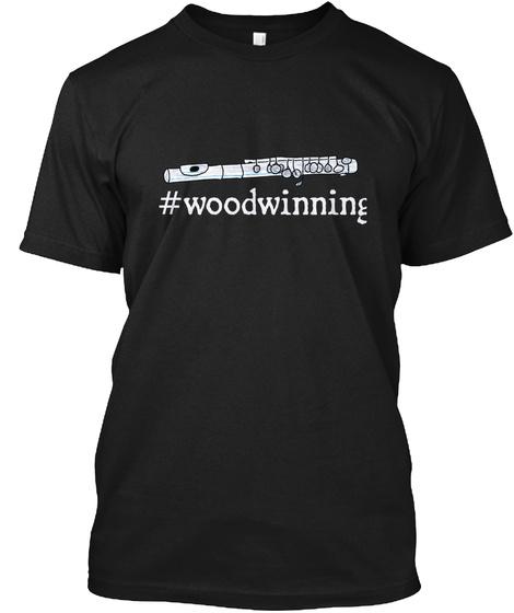 #Woodwinning Black T-Shirt Front