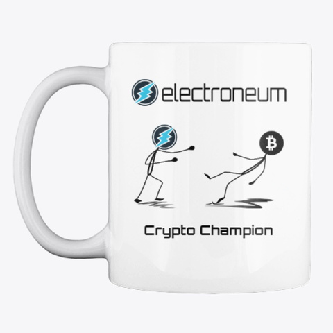 Etn   Crypto Champion Mug White T-Shirt Front