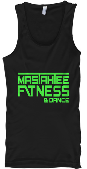 Masahee Fitness & Dance Black T-Shirt Front