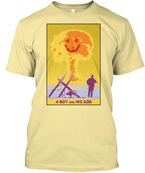 A Boy And His Dog Banana Cream T-Shirt Front