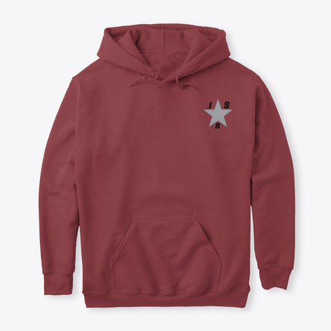 Official Indie Star Radio Hoodie  Maroon T-Shirt Front
