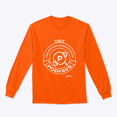 The Podfavs Crest Safety Orange T-Shirt Front