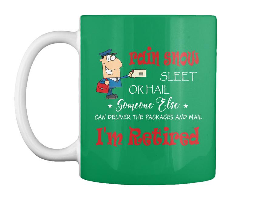 miniature 43 - Funny Retired Postal Worker Mailman Tee - Rain Suck Sleet Or Gift Coffee Mug