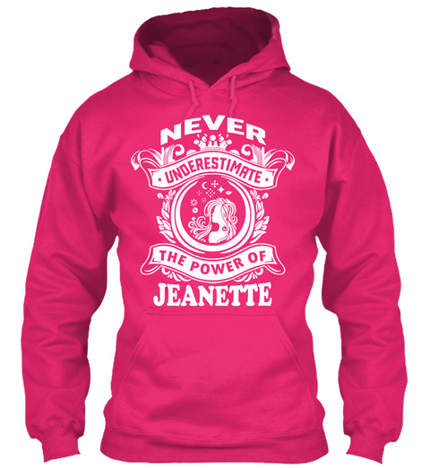 Never Underestimate Jeanette ! Heliconia T-Shirt Front