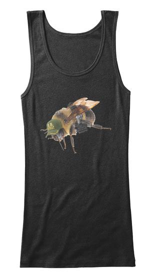 Border Patrol Bee Black T-Shirt Front