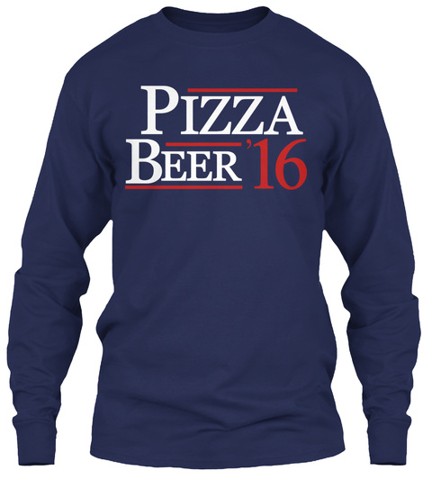 Pizza Beer '16 Navy T-Shirt Front