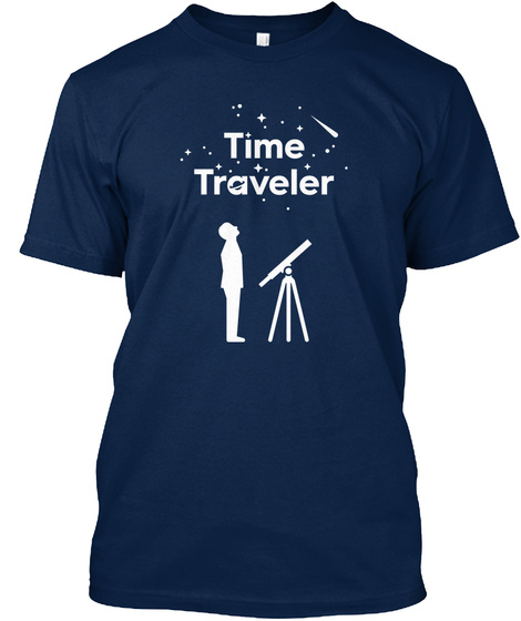 Time Traveler Navy T-Shirt Front