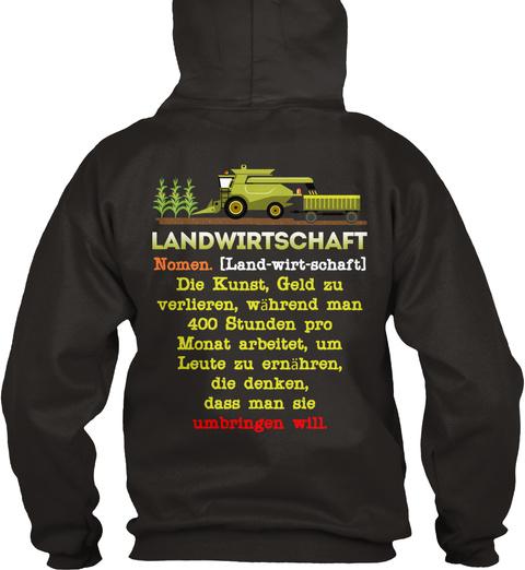 Landwirtschaft Nomen. (Land Wort Schaft) Die Just, Gold Zu Verlieren, Wanted Man 400 Student Pro Monday Arbeitet, Um... Jet Black T-Shirt Back