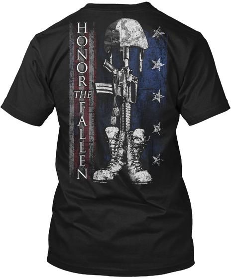 Honor The Fallen Black T-Shirt Back